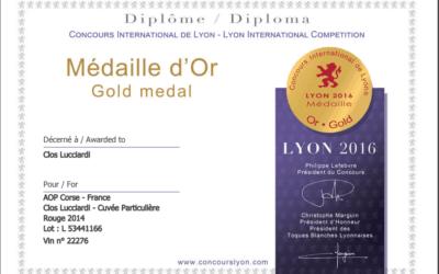 Médaille d'or au concours international de Lyon 2016